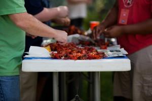 crawfish prepping at picnic Tampa Flordia